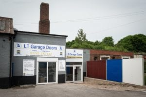 exterior view of lt garage doors showroom
