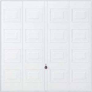 white canopy garage door