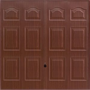 brown decograin garage door