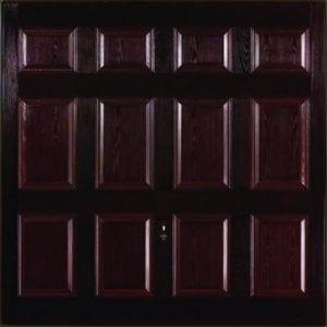GRP Up and Overs garage door in a dark colour.