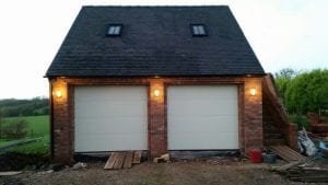 white sectional garage doors