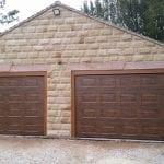 brown sectional garage doors