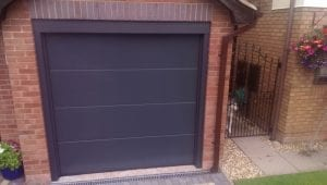 grey sectional garage door