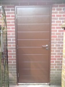 brown side hinge door