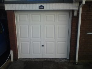 white up and over garage door