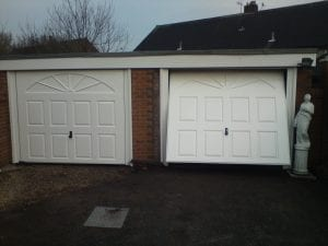 white up and over garage doors